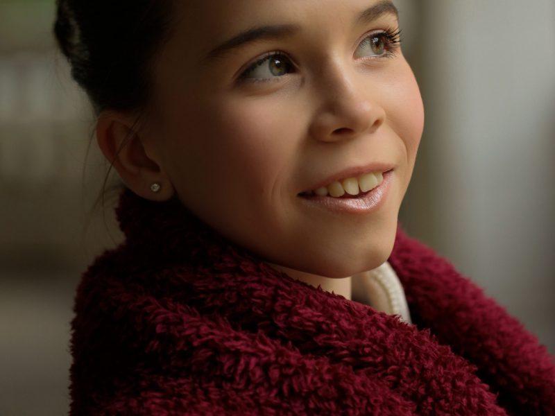 portrait of older girl natural light