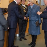 HRH Duchess of Cornwall meeting local dignitaries