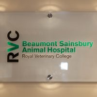Sign of the RVC Beaumont Sainsbury Animal Hospital