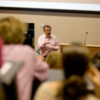 Sir Robert Winston giving a lecture