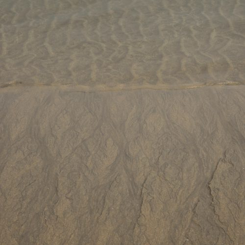 water patterns in sand