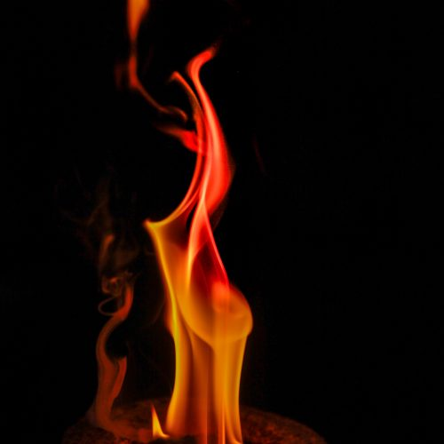 detailed natural flame
