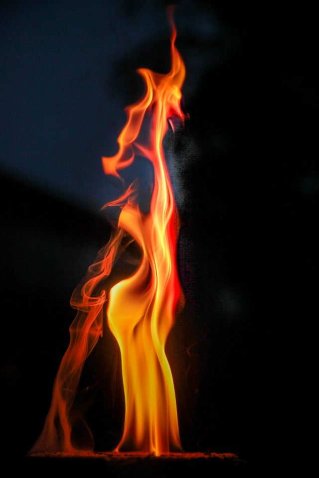 natural flame in detail