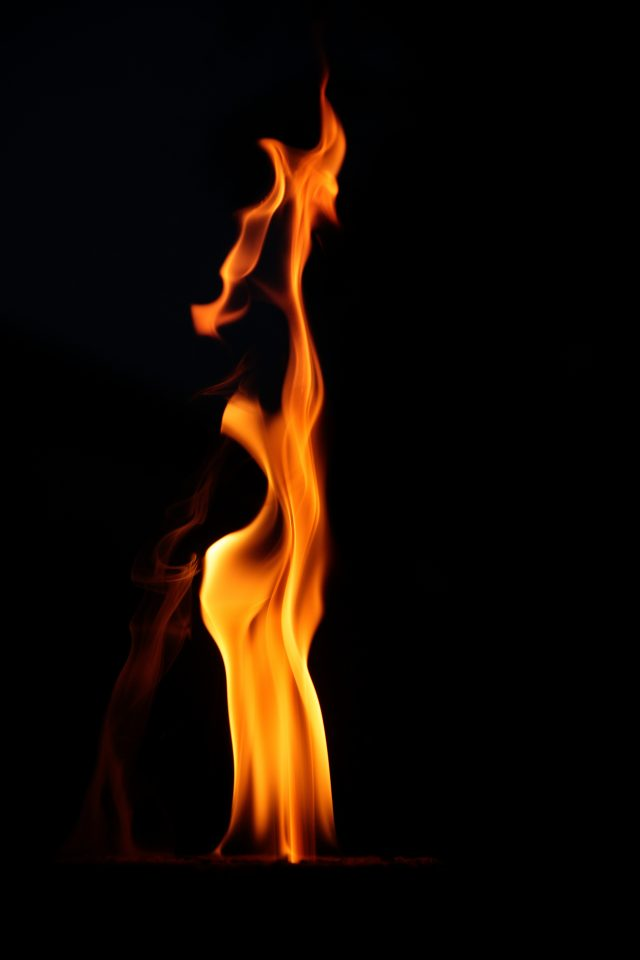 detail of a natural flame