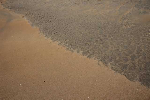 water ripples in sand
