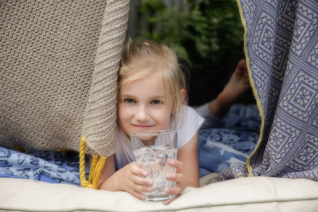Portrait of young girl relaxed